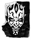 Darth Maul (black and white)