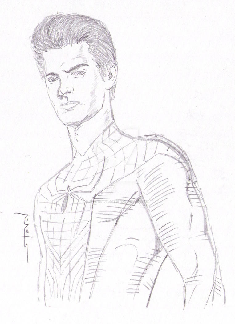 andrew garfield as peter parker by stevenwilcox d4tu960 the amazing andrew garfield as peter parker 291985128 amazing garfield face coloring pages
