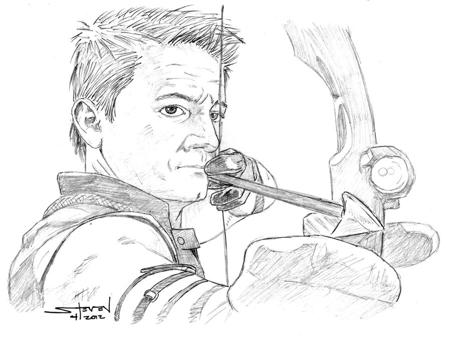 The avengers hawkeye by stevenwilcox on deviantart for Marvel hawkeye coloring pages