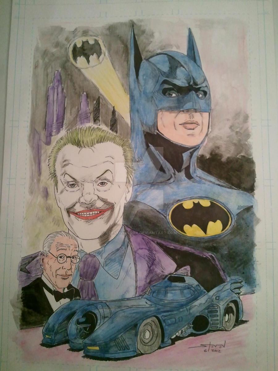 Batman watercolors