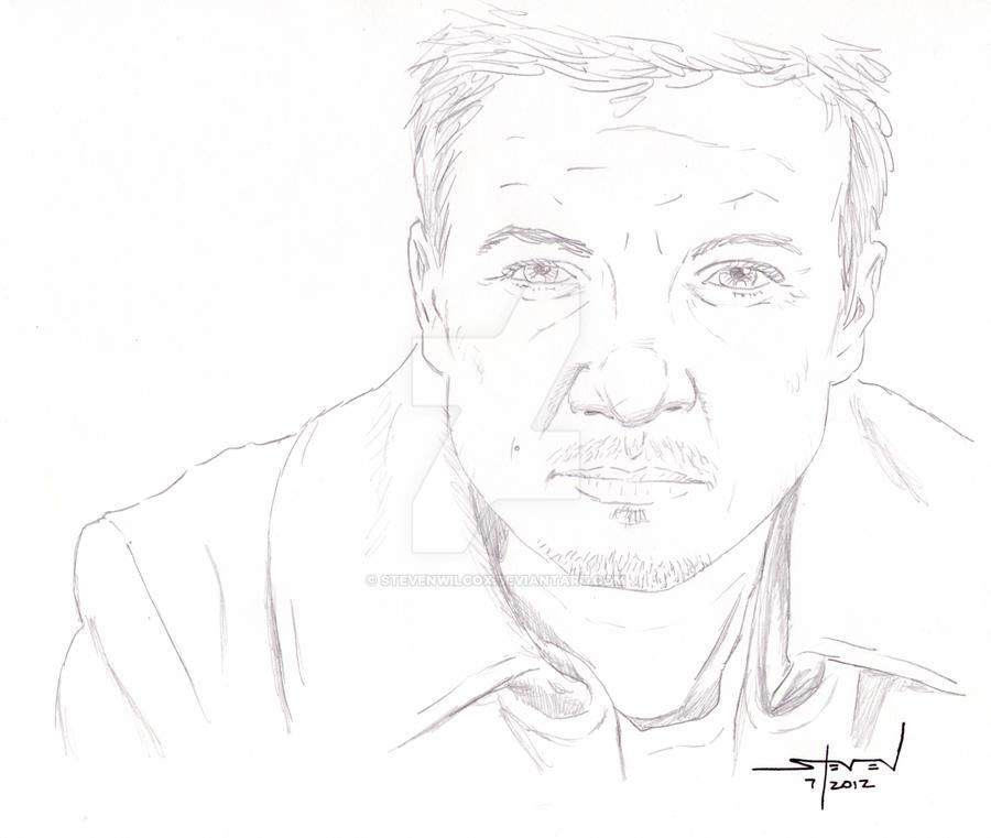 Jeremy Renner pencil sketch