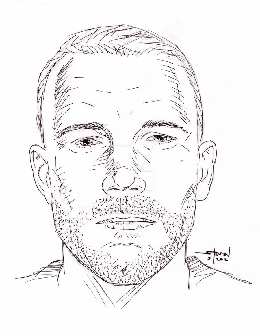 Ben Affleck ballpoint portrait