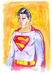 Superman painted