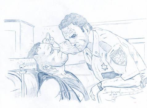 The Walking Dead: Merle Meets Officer Friendly