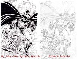 Byrne Pencils Wilcox Inks Side-By-Side