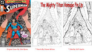 The Mighty Titan pin up (Superman #21 homage)