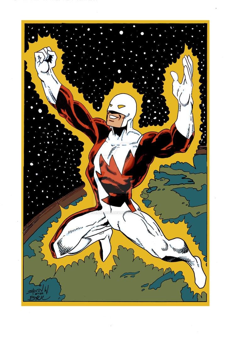 John Byrne Guardian pin up recreation by StevenWilcox