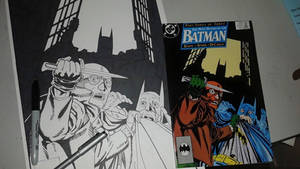 Batman 435 cover recreation - WIP