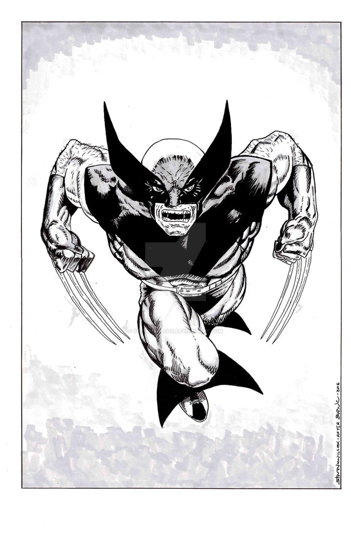 Wolverine 17 John Byrne Recreation Grey Scale by StevenWilcox