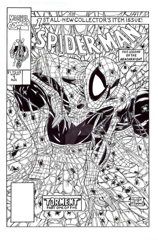 Spider-Man 1 Todd McFarlane Recreation by StevenWilcox