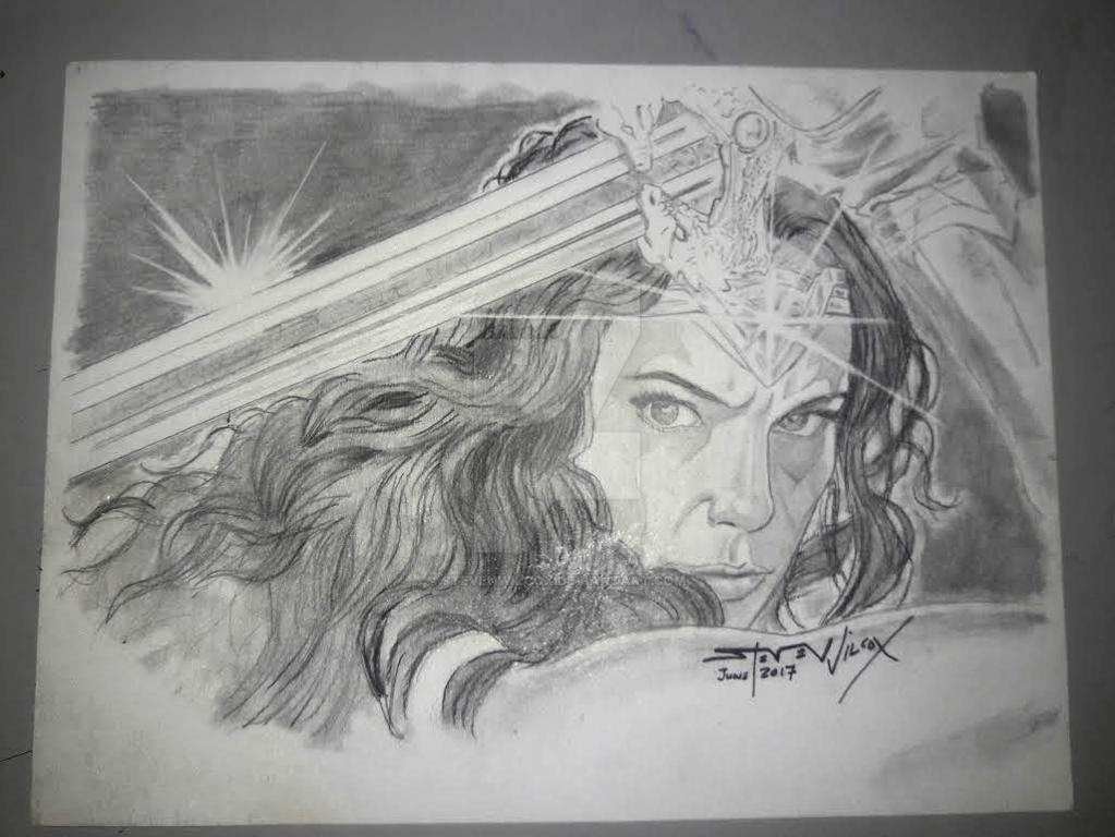 Wonder Woman pencil drawing by StevenWilcox