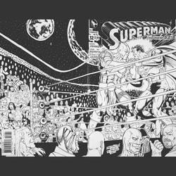Ajax vs Superman sketch cover