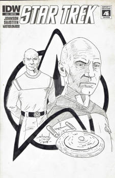 Picard Montage sketch cover