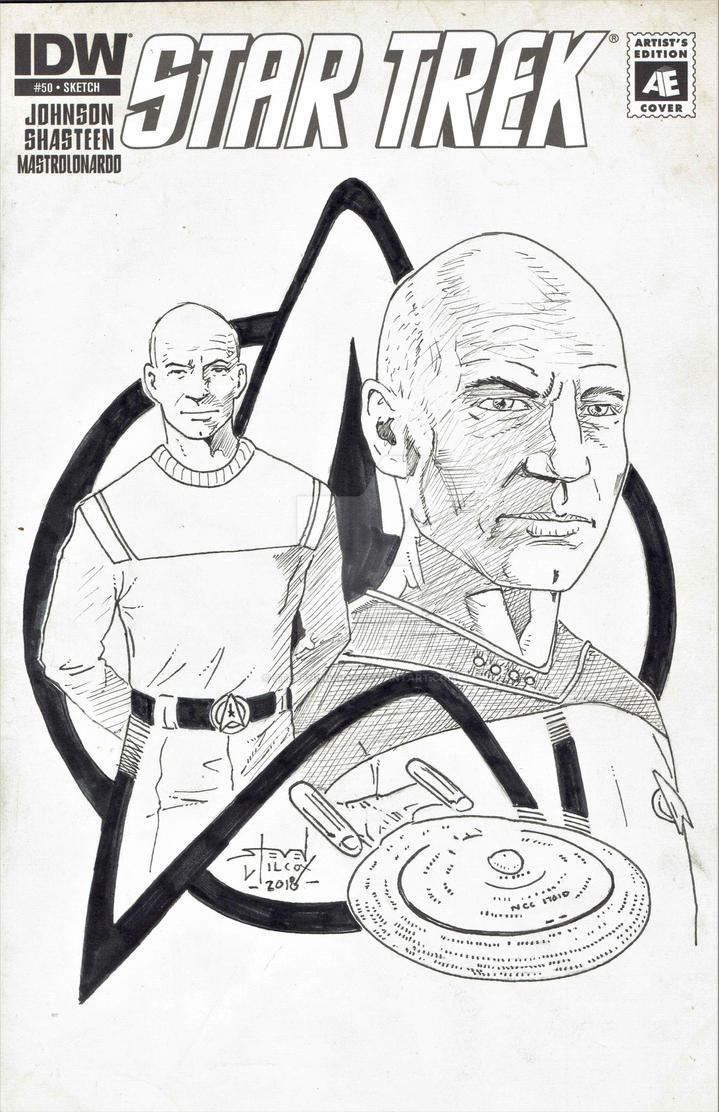 Picard Montage sketch cover by StevenWilcox