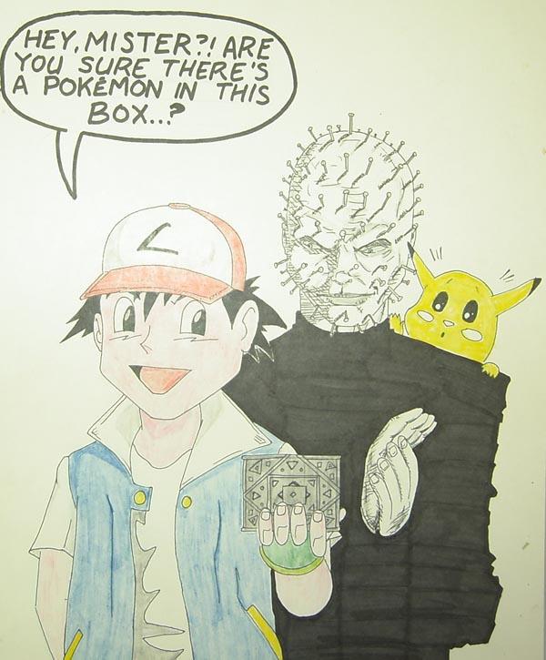 Pokemon vs Pinhead by StevenWilcox