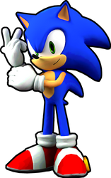 Sonic Runners Sonic Idle Transparent by SoniFoXx