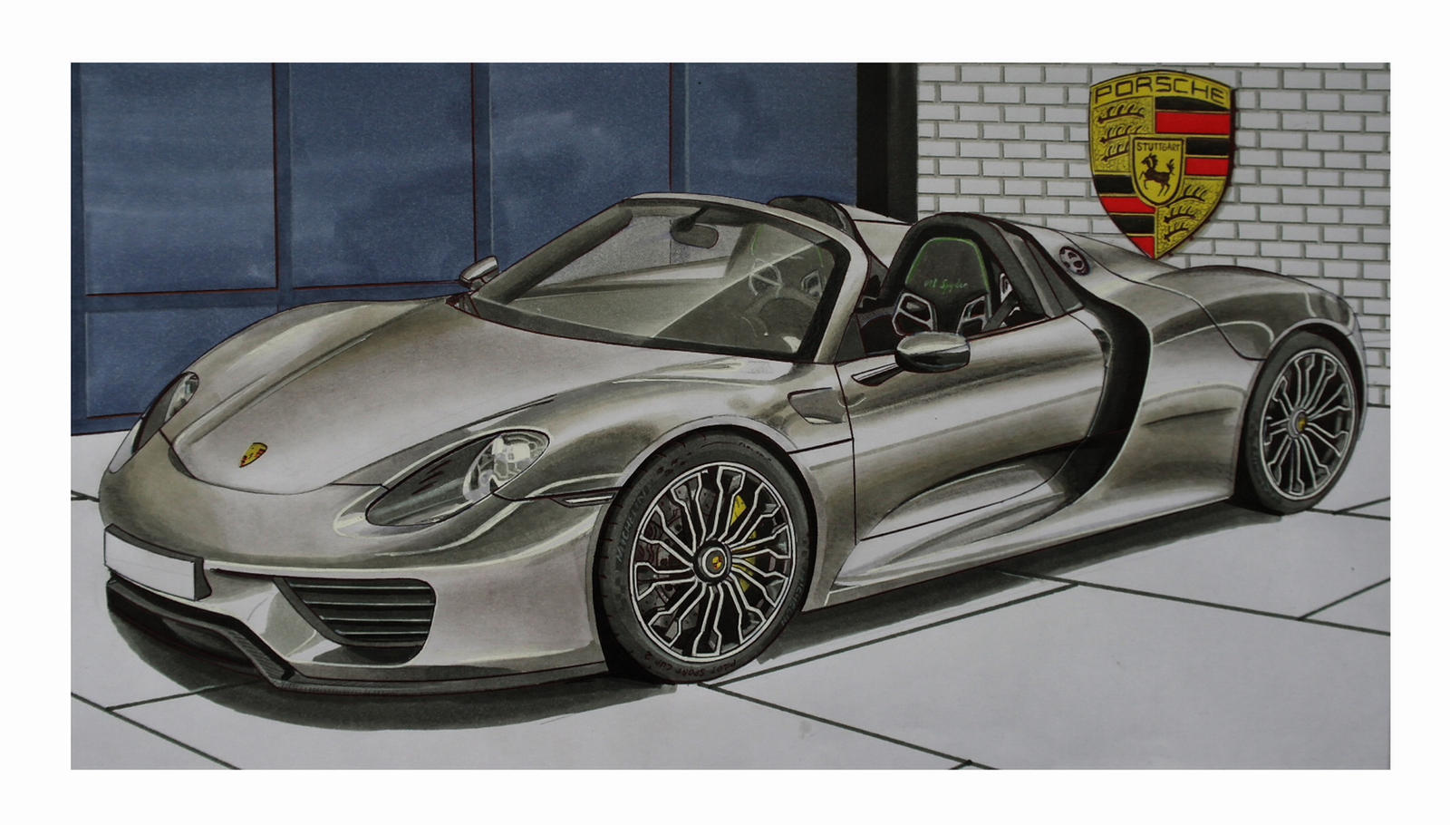 porsche 918 spyder by stephen59300 on deviantart. Black Bedroom Furniture Sets. Home Design Ideas