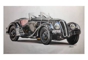 Drawing bmw 338 a3