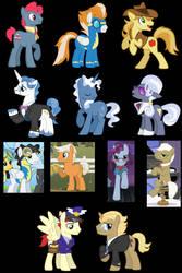 My favorite male ponies from mlp by Neko-Delia