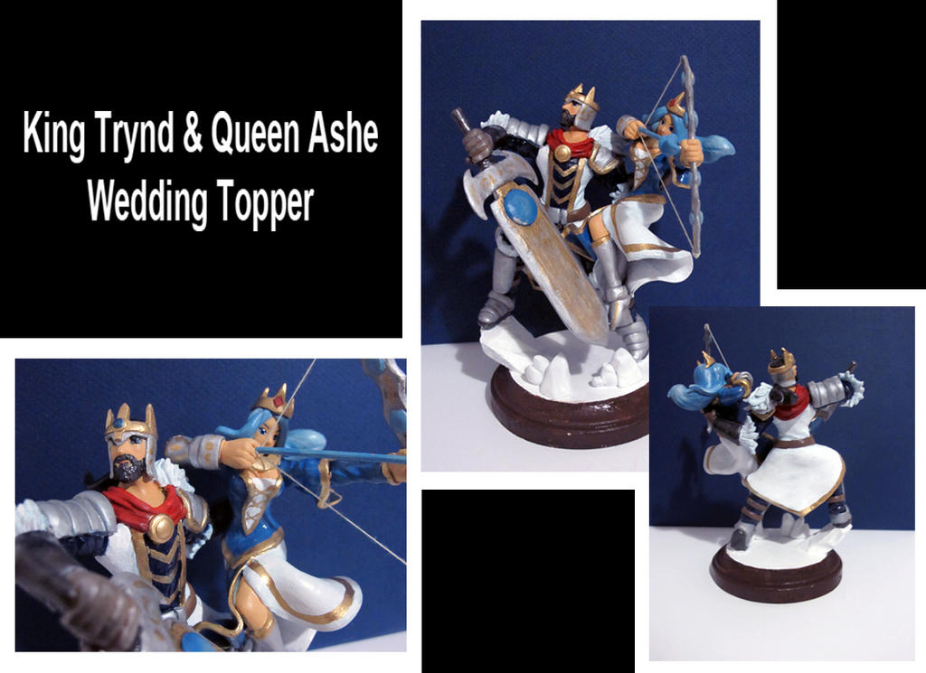 King Trynd and Queen Ashe Wedding Topper by Hojin-tron