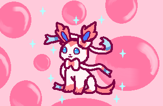 sparkly sylveon by GhostKITTEN