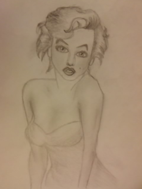 Marilyn Monroe - Famous Pose by thekimbuckland on deviantART