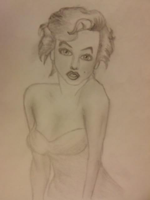 Marilyn Monroe - Famous Pose by thekimbuckland on deviantART