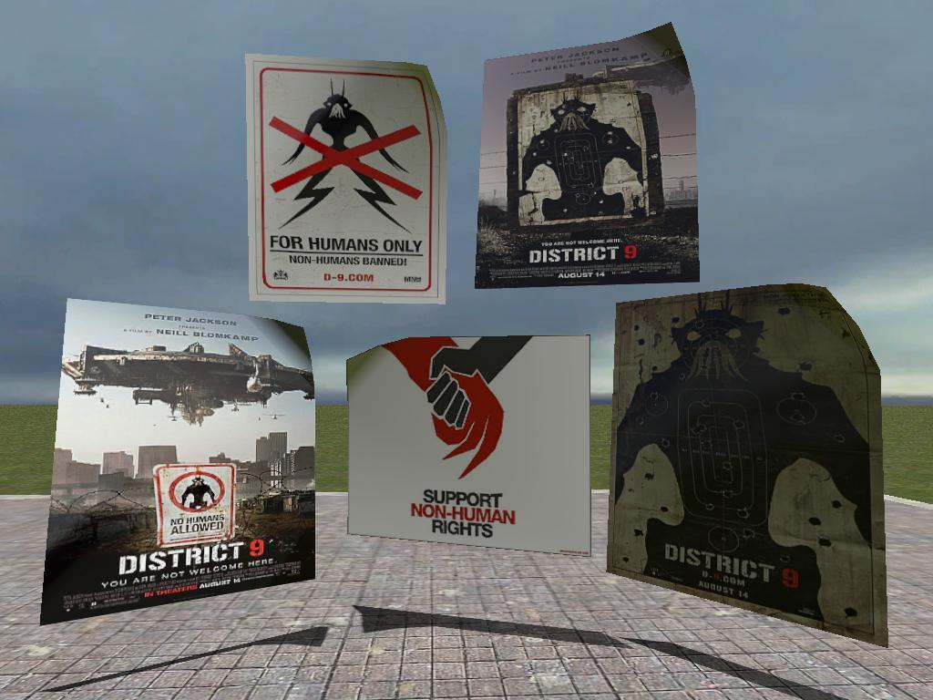 District 9 Poster Reskins