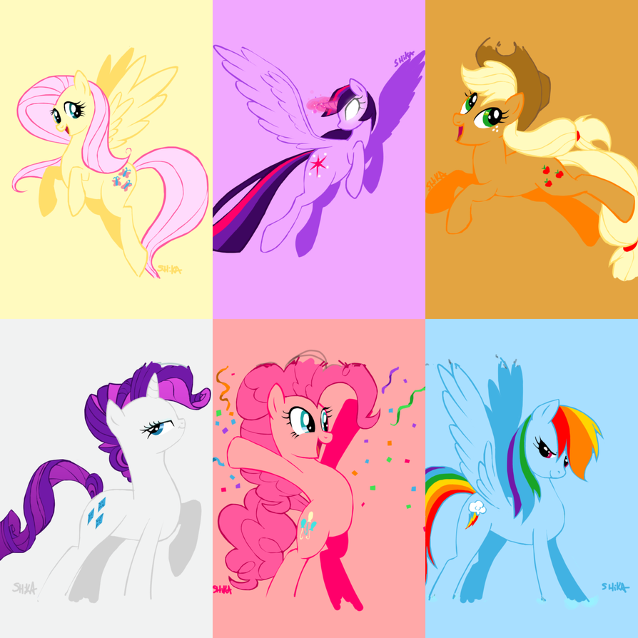 DS2 - MLP - Mane Six by ShikaNime