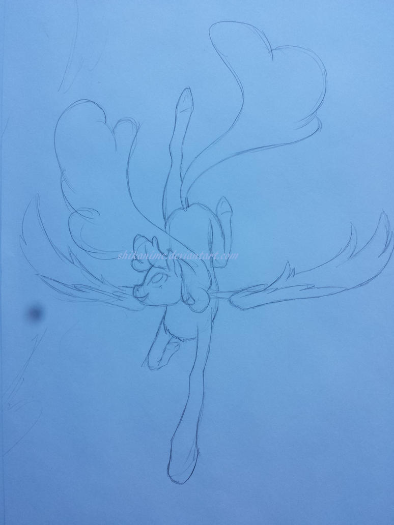 Taking Flight - WIP drawing by ShikaNime