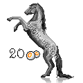 Pixel Horse Greyscale - 20 points by Bright-Button