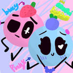 Bluey and Pinky