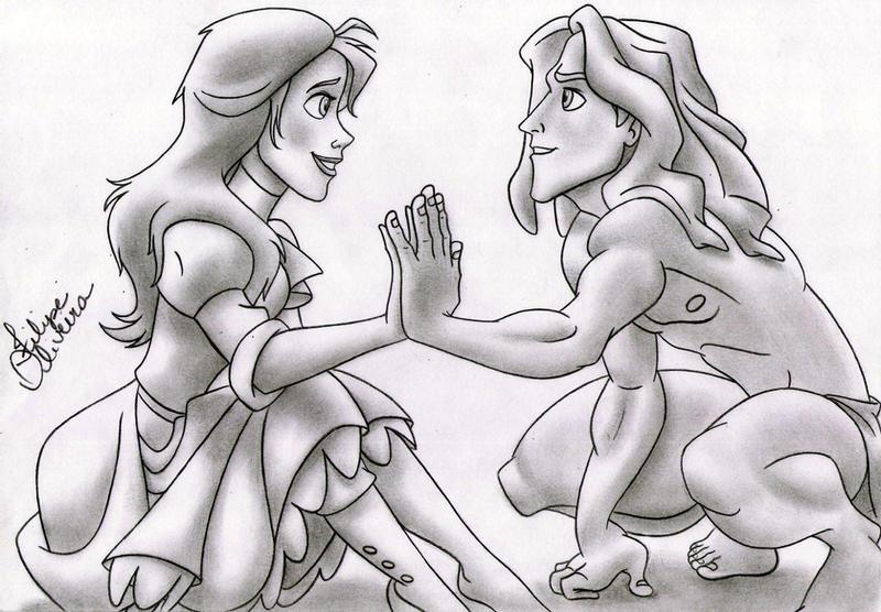 Tarzan and Jane Disney by filipeoliveira