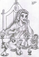 Belle and her friends Disney by filipeoliveira