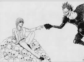 Death Note + Michelangelo by AndyGramacho