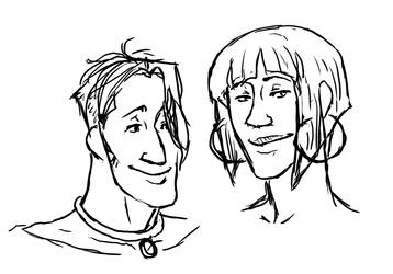 Luke and Elaine sketchy by Suzume5345