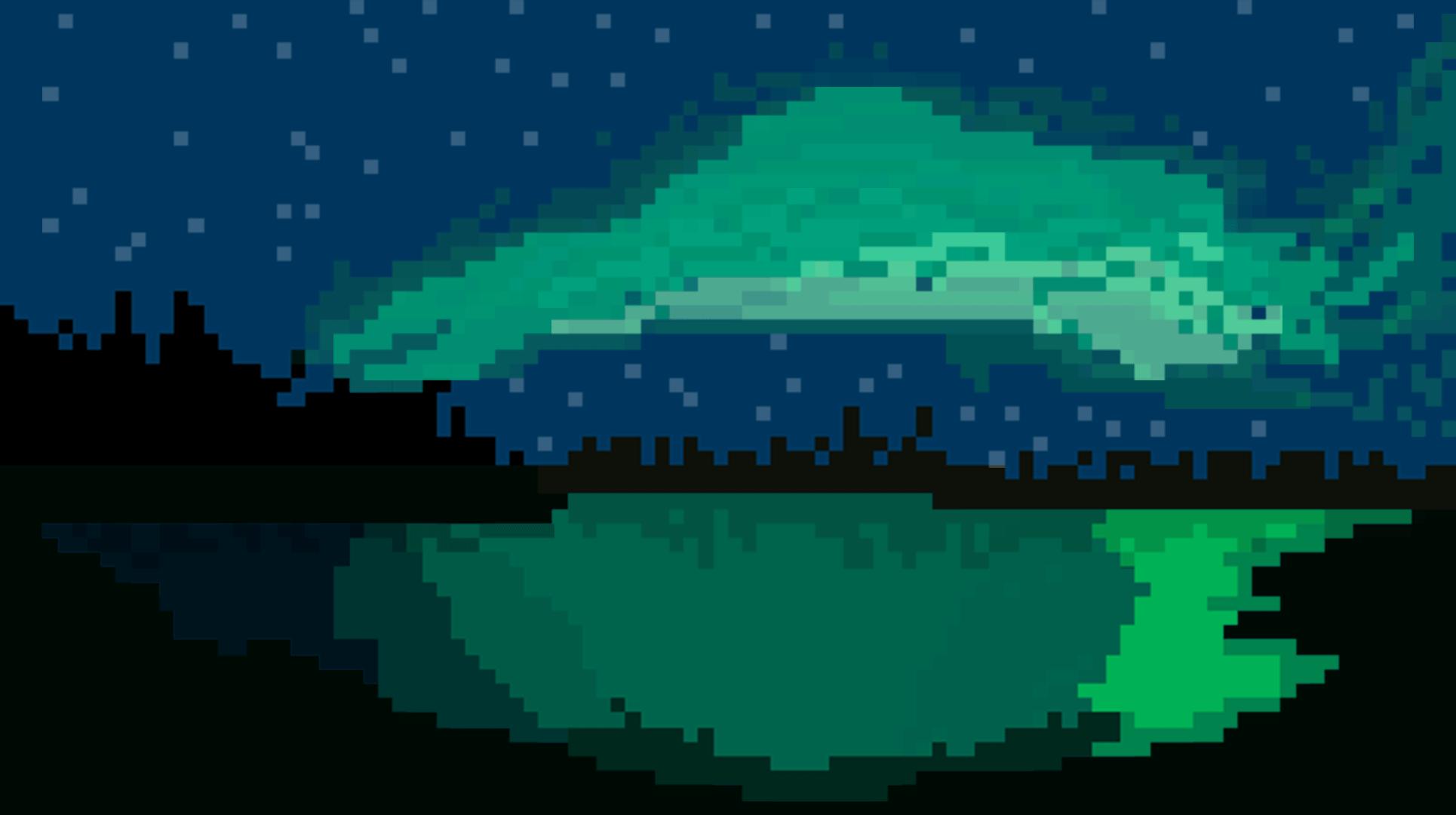 Northern Lights 8bit Art Style by JustFeDe on DeviantArt