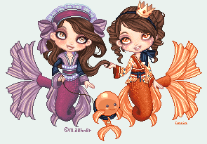 Daria and Moni's Mermaids by PackagedBliss