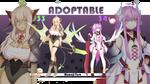 [CLOSED] Adoptable No.33 and No.34 by Momoji-Taro