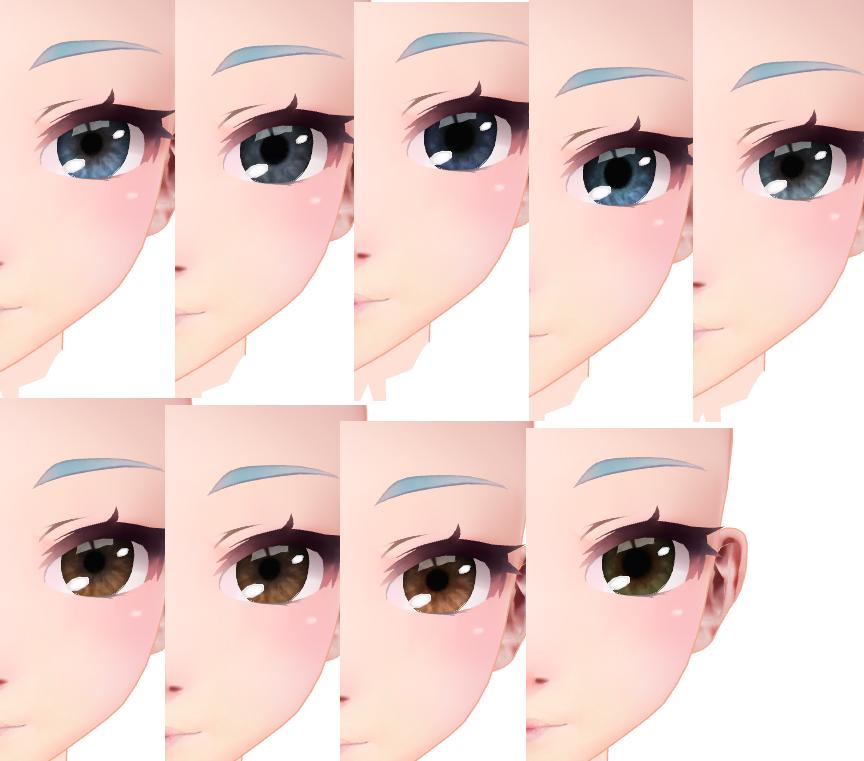 Skyrim faces eye texture by Entzminger500