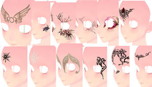 MMD Dragon Age Face Tattoo 4 Download