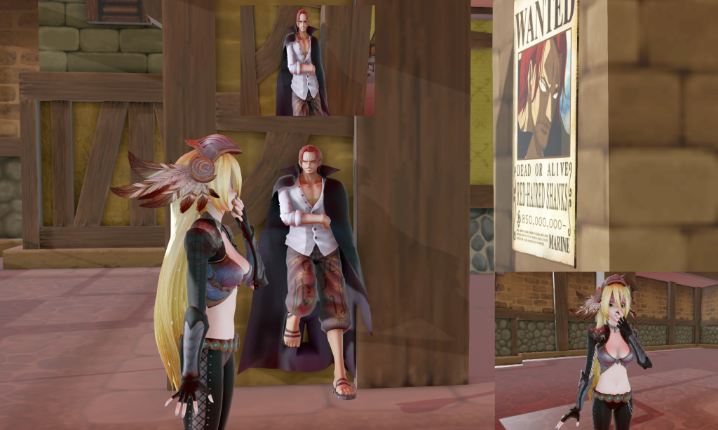 MMD Red Haired shanks Wanted Poster + Pose Downloa by Entzminger500