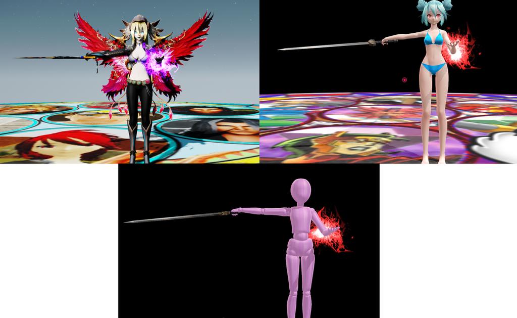 MMD 6 Sword Pose + empty eyes Download by Entzminger500