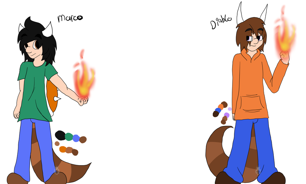 references: Marco and Diablo by Ded-Fire-Dragon