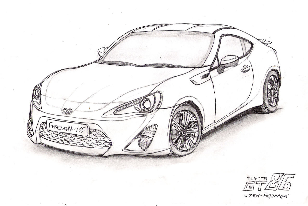 Toyota 86 Gt Drawing Sketch Coloring Page