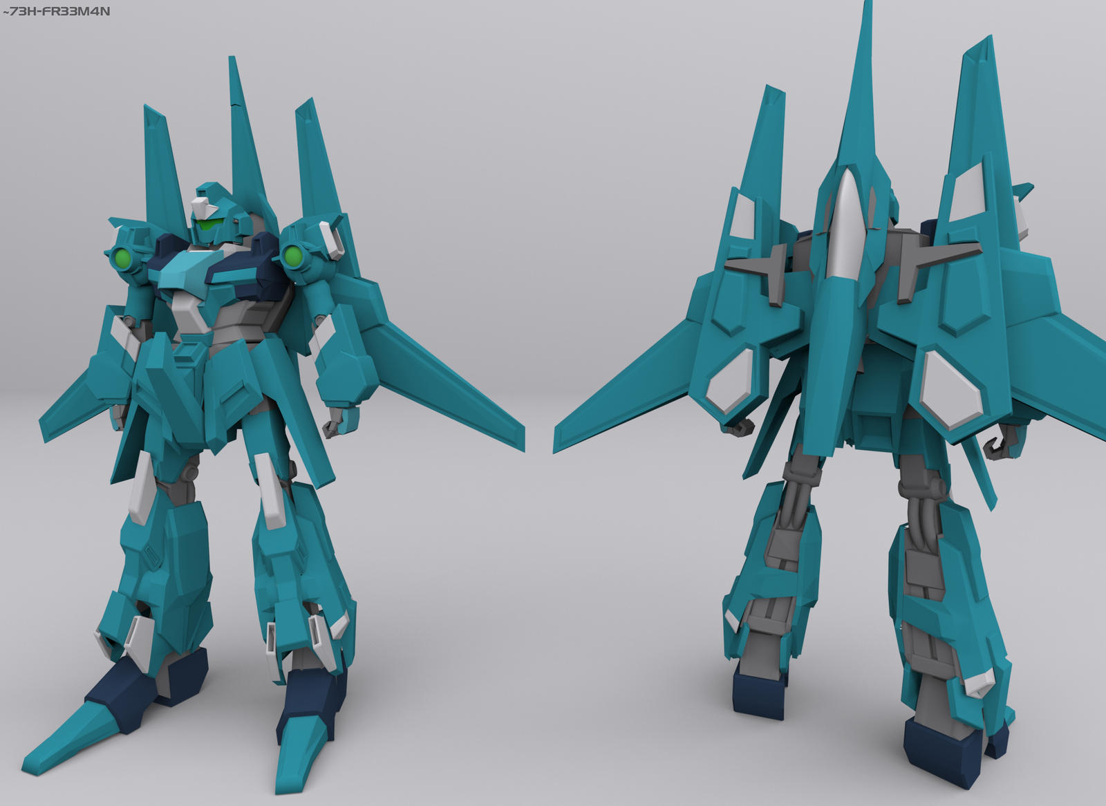 RGZ-95C ReZEL Commander Type (3D) by 73H-FR33M4N
