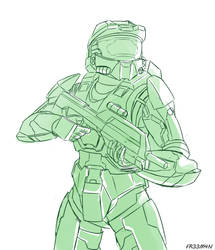 Master Chief by 73H-FR33M4N