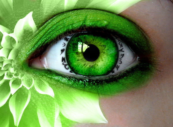 green eyed witch wallpaper - photo #12