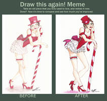 oOo Draw this again ... Candy Cane girl oOo by patedamande