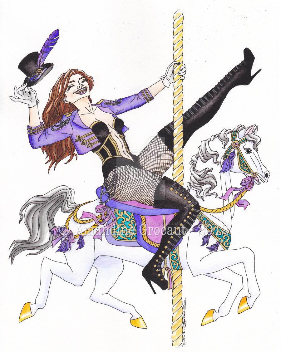 .oO The Carrousel Lady Oo. by patedamande
